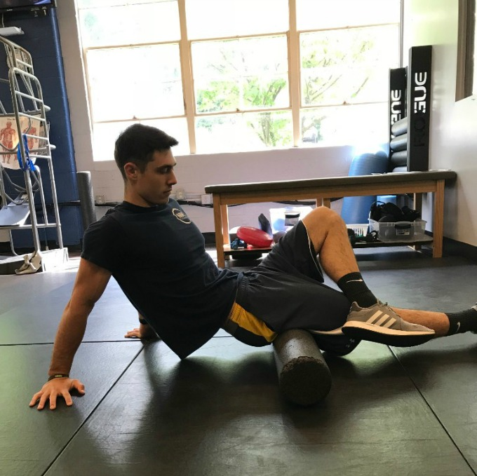 Foam rolling helps give you an even deeper stretch and improve your mobility.