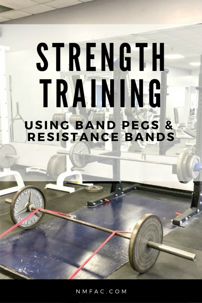Strength training using band pegs and resistance bands develops maximum tension through the entire range of motion of a lift.