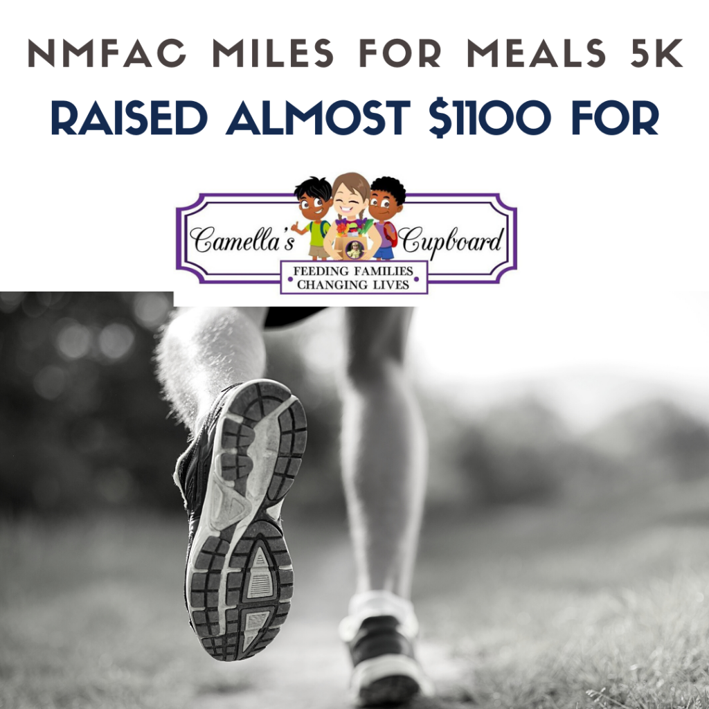 The NMFAC Miles for Meals 5k raised almost 1100 for Camella's Cupboard