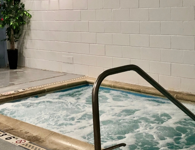 Hot tubs are great for soothing sore muscles.