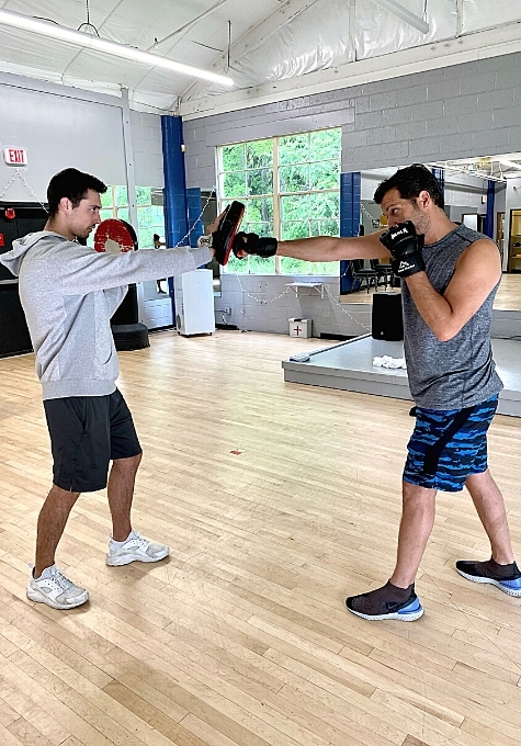 Learning how to strike a mitt or bag properly results in improving one's posture and balance during everyday activities.